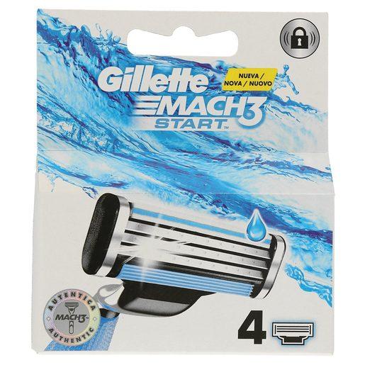 GILLETTE Mach3 start maquinilla de afeitar recambio blíster 4 uds