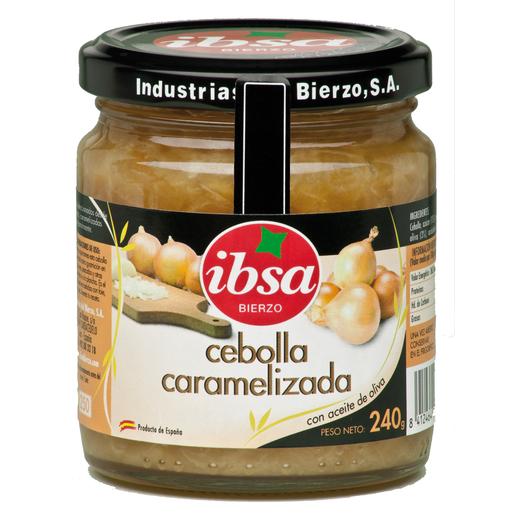 IBSA cebolla caramelizada con aceite de oliva frasco 240 gr