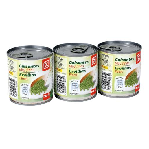 DIA guisante muy fino pack 3 latas 420 gr