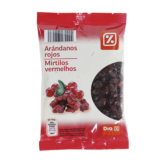 DIA arandanos rojos deshidratados bolsa 125 gr