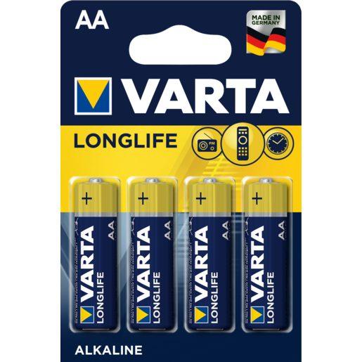 VARTA pilas long life LR6-AA pack 4 uds