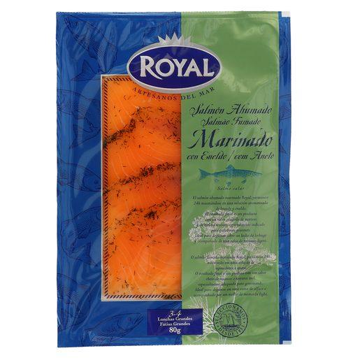 ROYAL salmón ahumado marinado sobre 80 gr