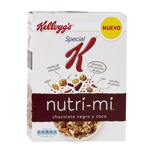 KELLOGG`S cereales special k nutri mi con cholate negro y coco caja 330 gr