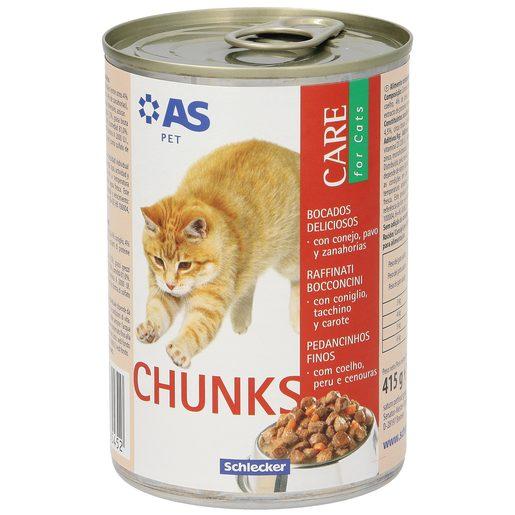 AS alimento para gatos bocados deliciosos con conejo y pavo lata 415 gr