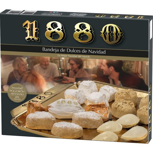 1880 bandeja de dulces de navidad surtidos caja 270 gr