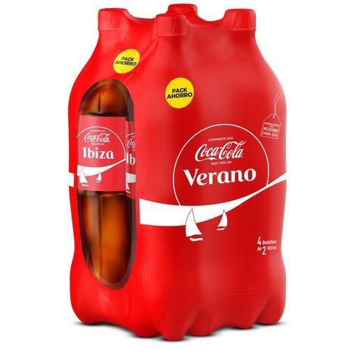 COCA COLA clásica pack 4 botellas 2 lt