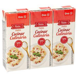 DIA nata líquida para cocinar 18% M.G. pack 3 unidades 200 ml