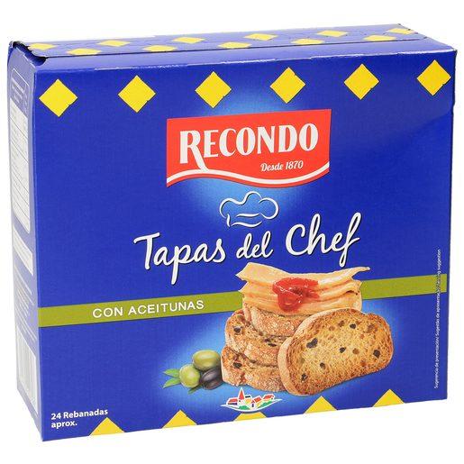 RECONDO pan tostado con aceitunas caja 100 gr