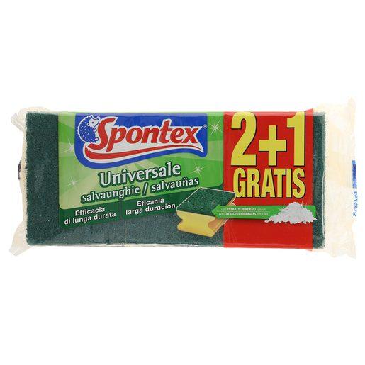 SPONTEX estropajo salvauñas bolsa 2 + 1 uds