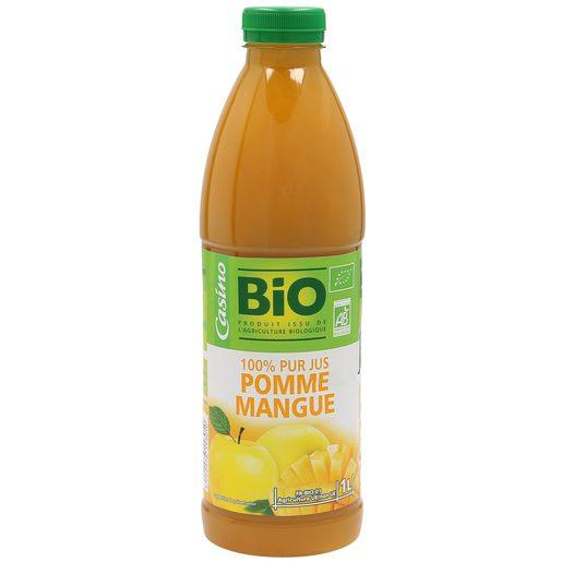 CASINO BIO zumo de manzana y mango botella 1 lt