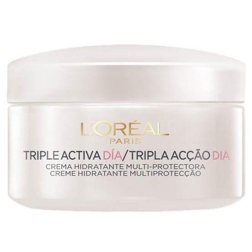 L'OREAL crema facial de día triple activa piel seca tarro 50 ml