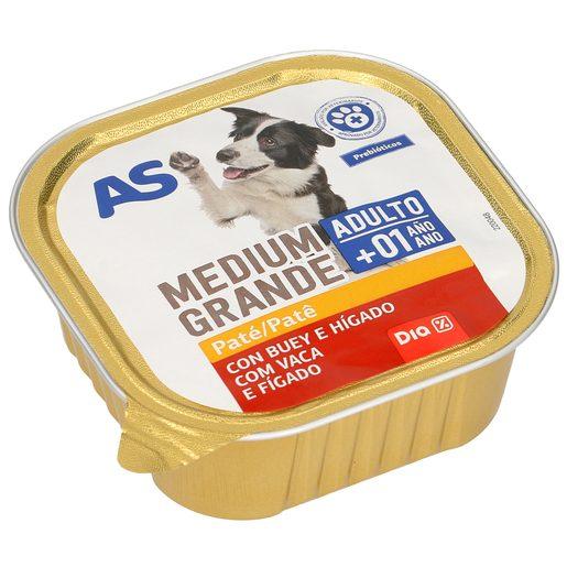 AS paté para perros con buey e hígado tarrina 300 gr