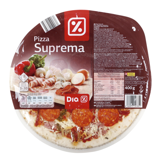 DIA pizza suprema envase 400 gr