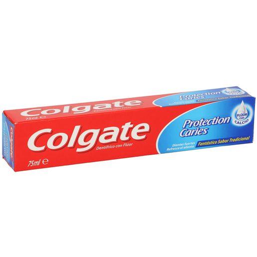 COLGATE pasta dentífrica protección caries con fluor + calcio tubo 75ml