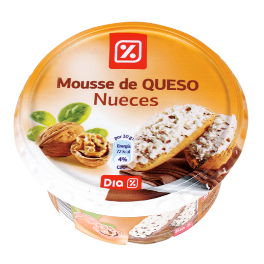 DIA mousse de queso con nueces tarrina 150 gr