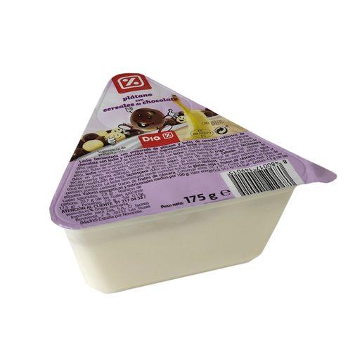 DIA yogur plátano con choco pops vaso 175 gr