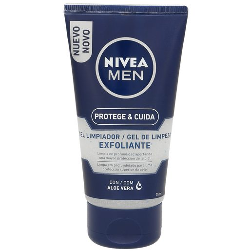 NIVEA Men gel limpiador exfoliante protege & cuida tubo 75 ml