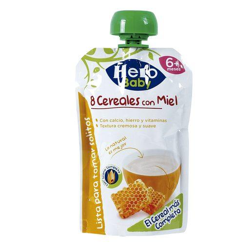 HERO Baby papilla 8 cereales con miel pouch 100 gr