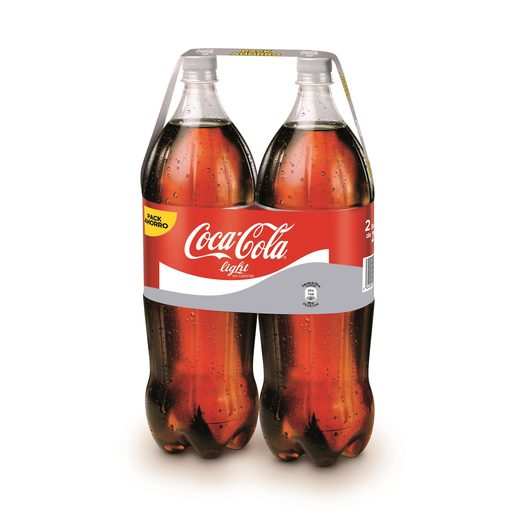 COCA COLA light pack 2 botellas 2 lt