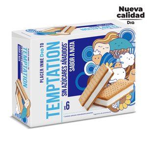 DIA TEMPTATION helado sandwich de nata sin azúcar caja 6 uds 300 gr