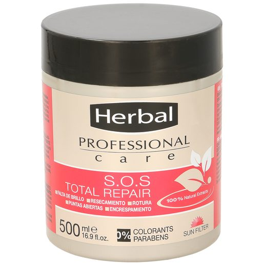 HERBAL Professional care sos mascarilla total repair tarro 500 ml