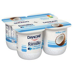 DANONE yogur coco pack 4 unidades 120 gr