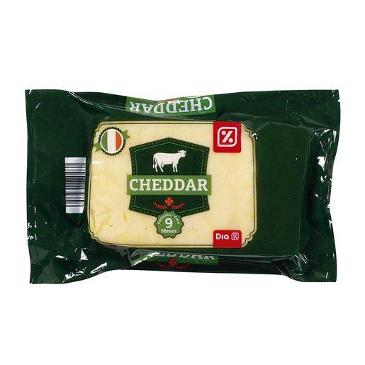 DIA queso cheddar madurado británico cuña 300 gr