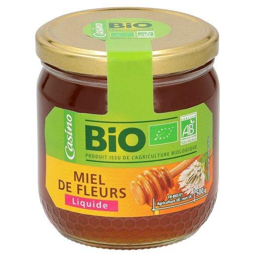 CASINO BIO miel de flores frasco 500 gr