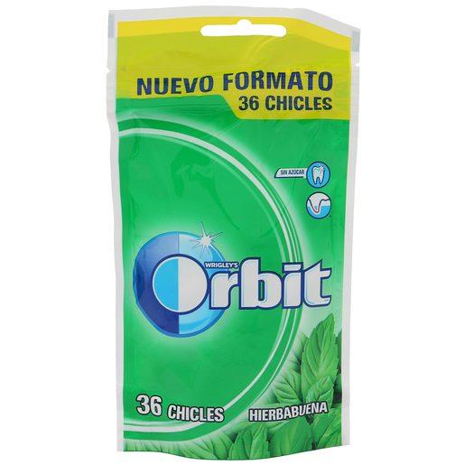 ORBIT chicle grageas sabor hierbabuena bolsa 58 gr