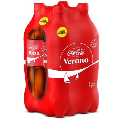 COCA COLA clásica pack 4 botellas 2 lt