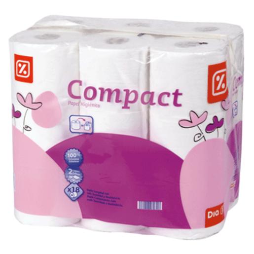 DIA papel higiénico compacto blanco paquete 18 uds