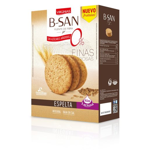 VIRGINIAS B-San galleta con espelta sin lactosa caja 300 gr
