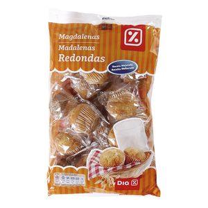 DIA magdalenas redondas envasadas individualmente bolsa 615 gr