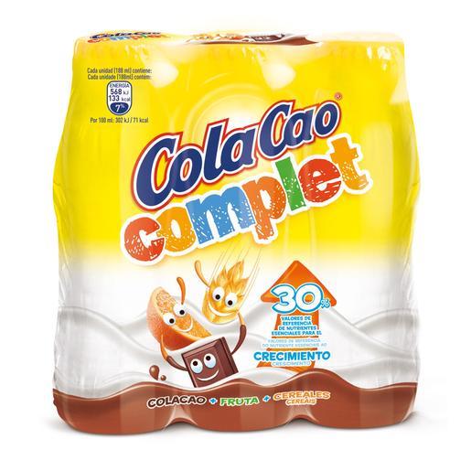 COLA CACO batido cacao complet botella 3x200 ml