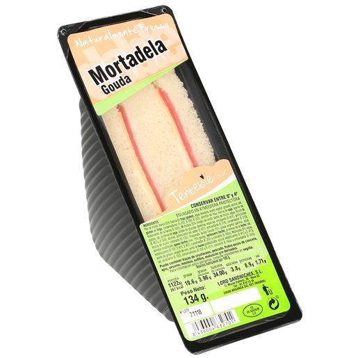 TENTEBIEN sandwich de mortadela y queso gouda envase 135 gr