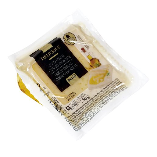 DIA DELICIOUS queso de oveja curado en aceite de oliva virgen cuña 250 gr