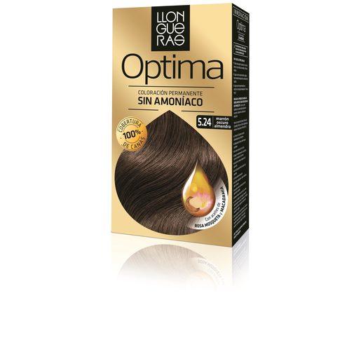 LLONGUERAS OPTIMA tinte Marrón Oscuro Almendra Nº 5,24 caja 1 ud