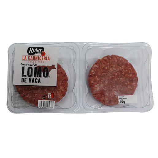 ROLER hamburguesas de lomo de vaca bandeja 2 uds 240 gr