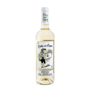 PINTA EN COPAS vino blanco viura-sauvignon botella 75 cl