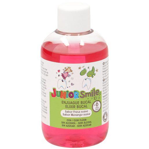 JUNIORSMILE enjuague bucal sabor fresa sin alcohol +6 años botella 100 ml