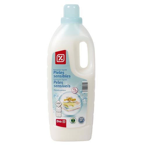 DIA detergente a mano y máquina líquido pieles sensibles botella 66 lv
