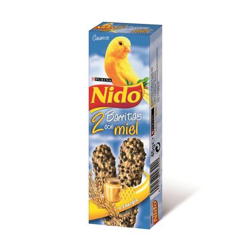 NIDO barritas con miel para canarios caja 2 uds