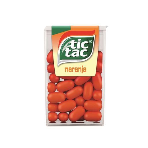 TIC TAC caramelo de naranja envase 18 gr