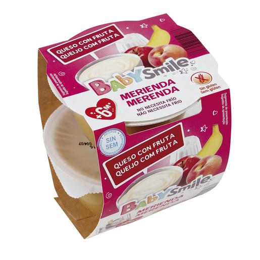 BABYSMILE Merienda queso con fruta tarrito 2x100 gr