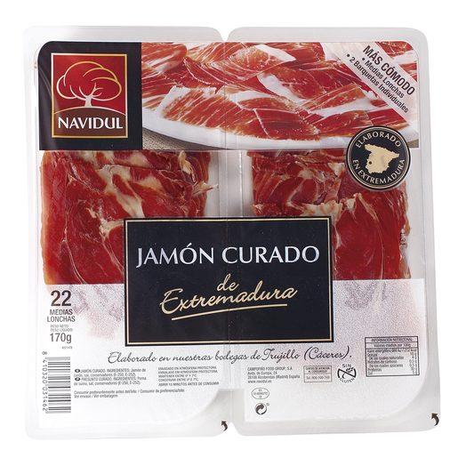 NAVIDUL jamón curado medias lonchas bipack 170 gr