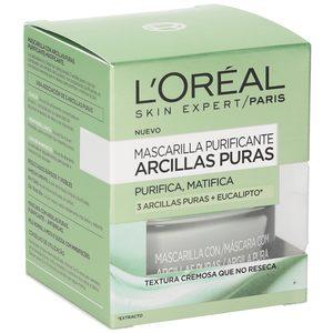L'OREAL Skin expert mascarilla arcillas puras purificante tarro 50 ml
