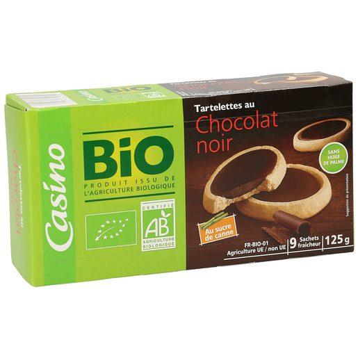 CASINO BIO tartaletas rellenas de chocolate negro caja 125 gr