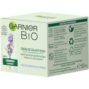 GARNIER Bio crema de día antiedad lavanda tarro 50 ml