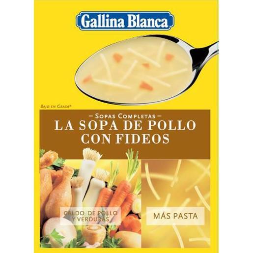 GALLINA BLANCA sopa de pollo con fideos sobre 98 gr