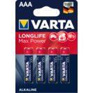 VARTA Max tech pila alcalina AAA LR3 blíster 4 uds